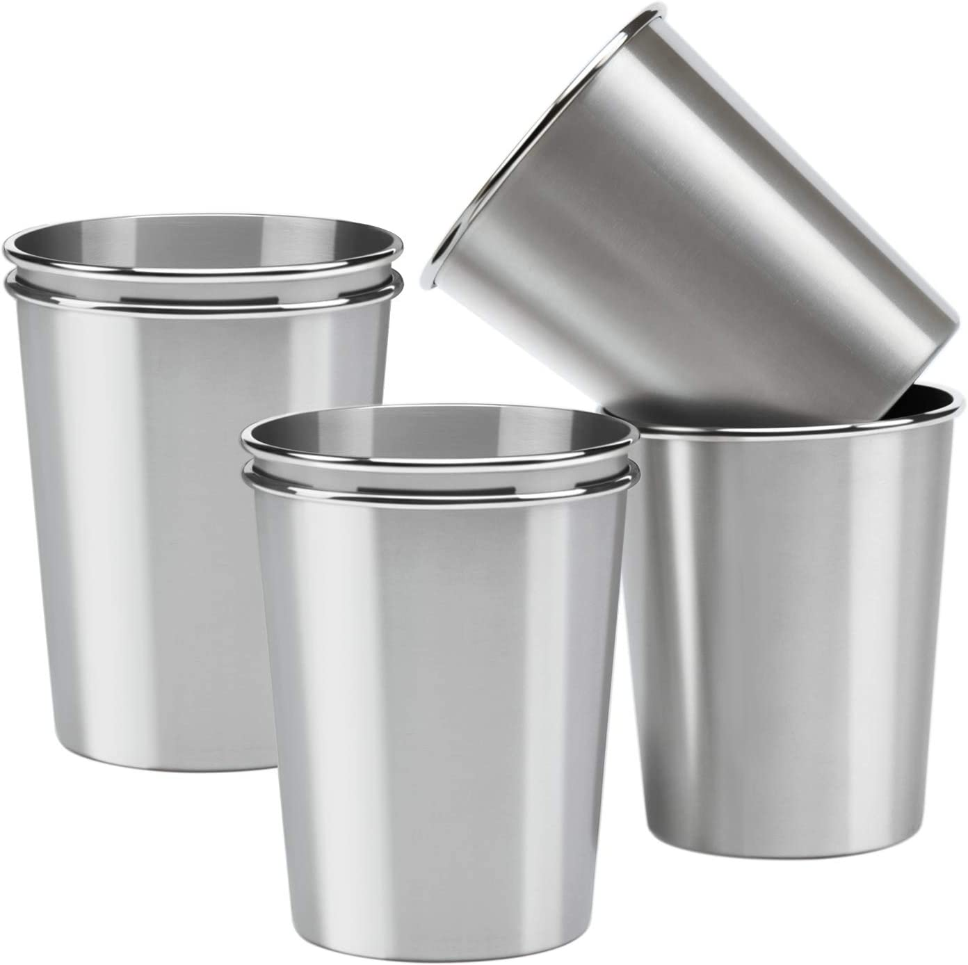 Ruisita 12 Pack Stainless Steel Cups Stainless Steel Pint Cup Tumblers Shatterproof Drinking Glasses Metal Cups for Kids or Adults
