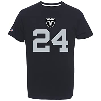 Camiseta del jugador Marshawn Lynch, número 24 del Oakland Raiders, de Majestic