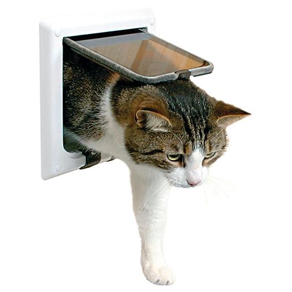Puerta para gatos TRIXIE Gatera 4 posiciones con tunel: Amazon.es: Productos para mascotas