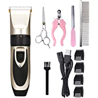Andoer Dog Hair Trimmer Professional Pet Grooming Set Electrical Rechargeable Pet Clipper Shaver Set Haircut Machine