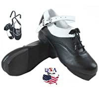 Irlandés Jig Hard Heavy White Lightning Zapatos, Irlandés Dancing duro Zapatos
