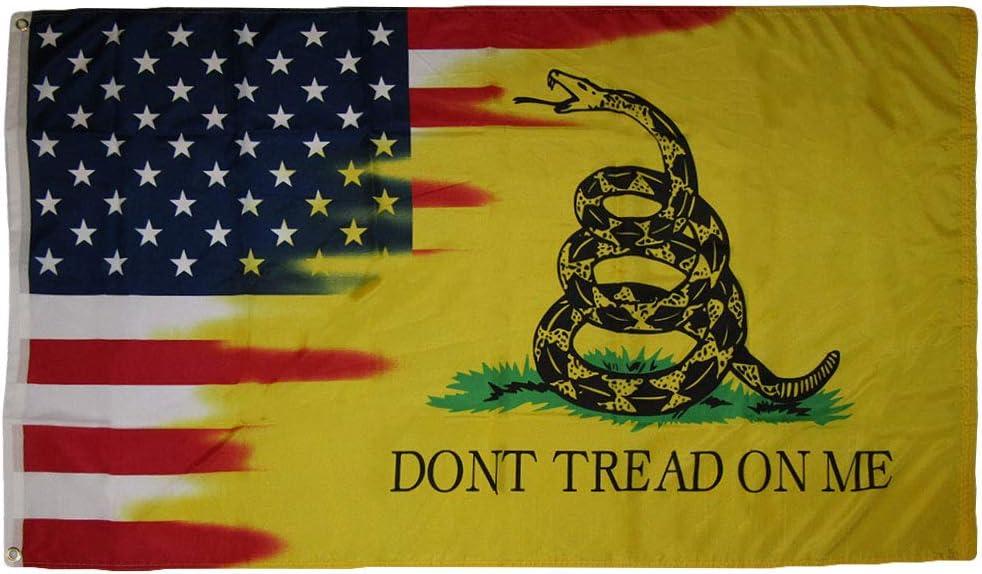 USA Gadsden Don/'t Tread On Me Combo 3x5 3/'x5/' Woven Poly Nylon Flag Banner