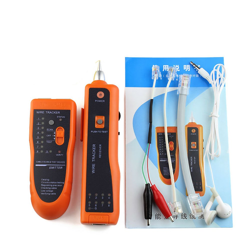 Amazon.com ATian RJ11 RJ45 Cat5 Cat6 Telephone Wire Tracker Tracer Toner Ethernet LAN Network Cable Tester Detector Line Finder Electronics  sc 1 st  Amazon.com : cat6 telephone wiring - yogabreezes.com