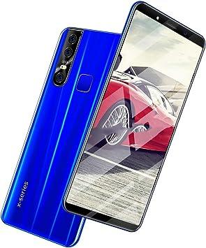 Smartphone, Sistema Android Os 9.1 Sistema De Pantalla Completa Dual Sim 3800Mah De 6.1 Pulgadas, Desbloqueo Facial GPS 2.0Mp + 8.0Mp Blue: Amazon.es: Electrónica