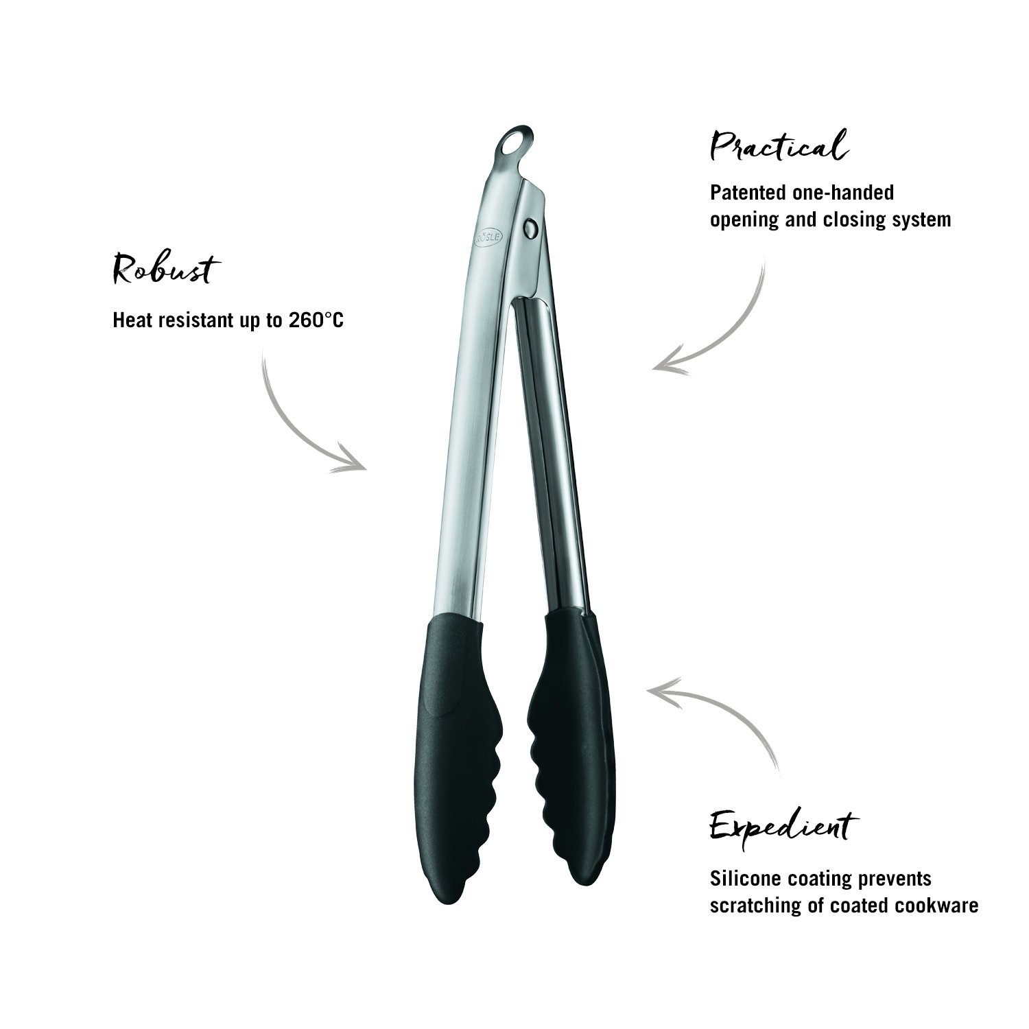 Rosle Stainless Steel Lock & Release Silicone Coated Cooking Tongs, 12-inch by Rosle (Image #7)