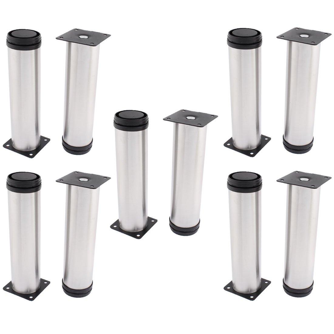 uxcell Kitchen Cabinet Furniture 50mm x 200mm Adjustable Plinth Leg 10pcs