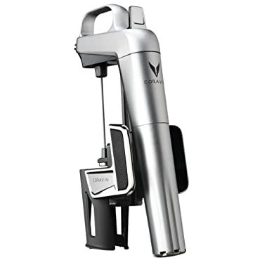 Coravin Model Two Elite Wine Preservation System and Bottle Opener, Includes 2 Argon Capsules, Silver