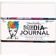 "Dina Wakley Media White Journal 6""X6""-Includes Heavyweight Watercolor Paper"
