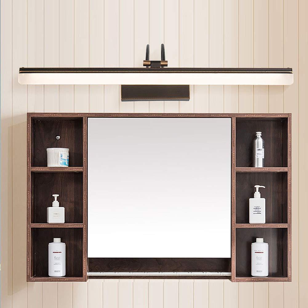 schwarz 38.5cm SXFYWYM Badezimmerspiegel Licht LED Kupfer Moderne Minimalist Makeup Spiegel Lampen Spiegel Lampen Lichter,schwarz,38.5cm