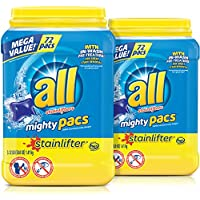 2-Pack of 72-Count all Mighty Pacs Laundry Detergent (Stainlifter)