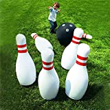 Novelty Place Giant Inflatable Bowling Set for Kids
