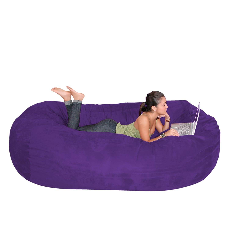 Purple 7 feet Cozy Sack 4-Feet Bean Bag Chair, Large, Navy
