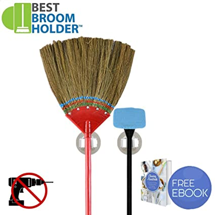 2pcs Wall Mount Mop Broom Storage Garage Tool Organizer with 11 lbs Max Load for Garden  sc 1 st  Amazon.com & Amazon.com - 2pcs Wall Mount Mop Broom Storage Garage Tool Organizer ...