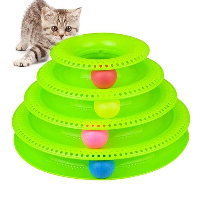 Rhww Juguete Para Gato Torre De Las Pistas Interactive ...
