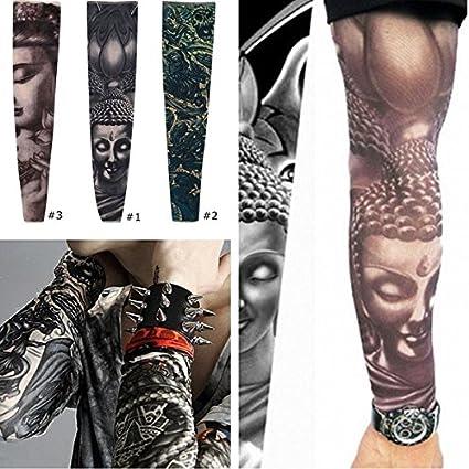 Poseidon Medias del brazo mangas del tatuaje de la moto que monta ...