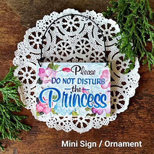 (D.G.Inc. Decorative Sign Mini Sign Ornament Please Do Not Disturb The Princess Door Hanger)