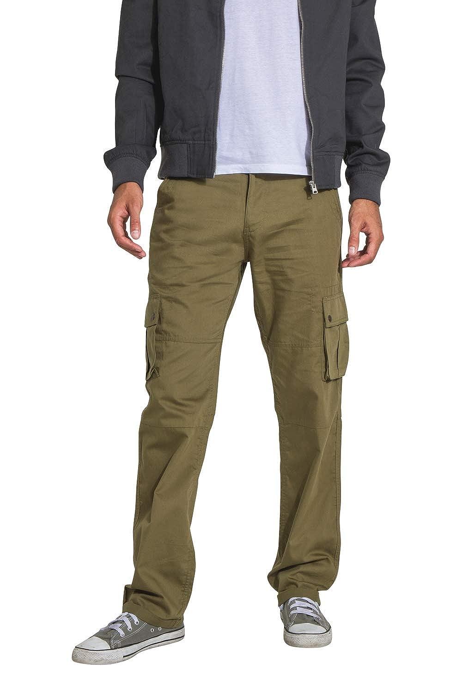 Verde Cotone Organico Multitasche Pantaloni Leggero FIRSWOODOLIVE Wash Clothing Company Pantaloni Cargo Uomo
