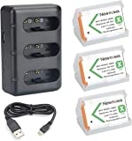 Newmowa NP-BX1 Replacement Battery (3-Pack) and 3-Channel USB Charger Kit for Sony NP-BX1 and Sony Cyber-shot DSC-HX50V…