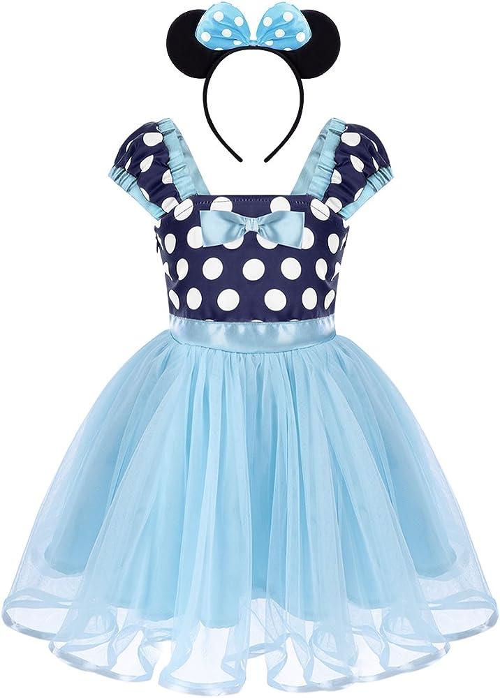 Bebé Niña Vestidos de Princesa Tutú Disfraces Infantil con Diadema Traje de Fiesta Carnaval Bautizo Tutú Ballet Lunares Fantasía Cumpleaños Baile para ...