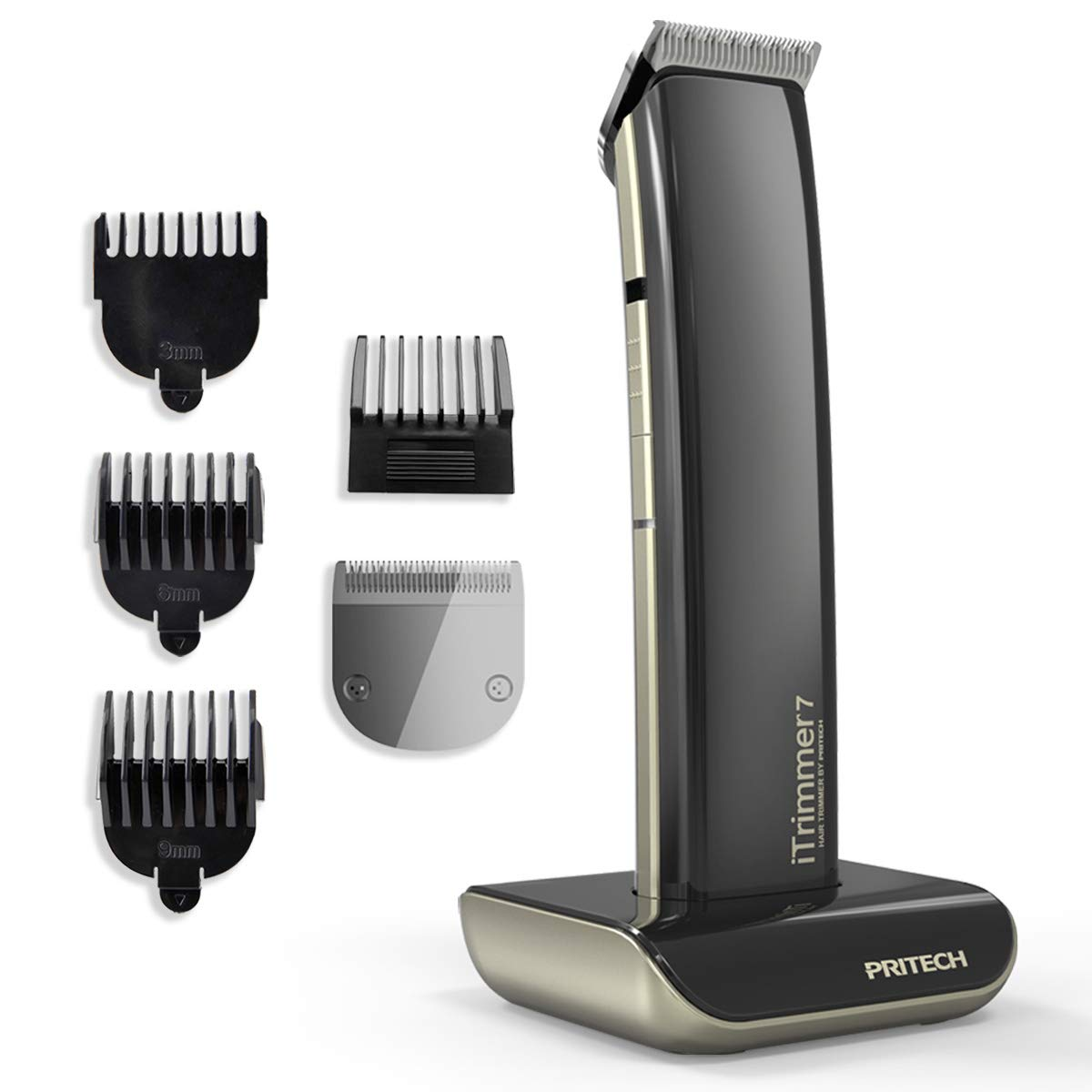 Electric Hair Clipper Cordless Beard Trimmer for Men USB Rechargeable Grooming Haircut Kit Beard and Mustache Shaver Black