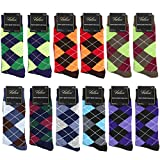 Falari Men Cotton Dress Socks Size 10-13 (12-pack Diamond Shaped) 901-A12