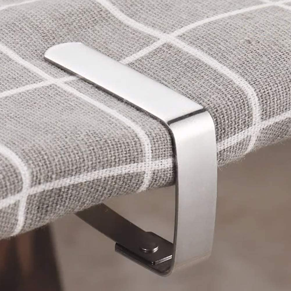 Details about  /6Pcs Stainless Steel Tablecloth Clips Desk Table Cloth Cover Clamps Holder US