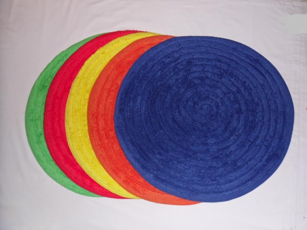 Bath Mat [Vibrant Yellow Colour] - 100% Cotton, Absorbent, Anti-slip ...