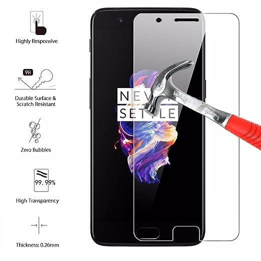 2 opinioni per OnePlus 5vetro temperato, One Plus 5, pellicola scratch-prevention anti-bolle