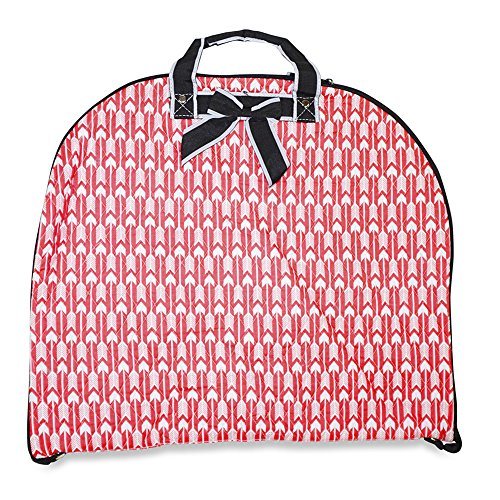 ever-moda-quilted-hanging-garment-bag-collection-40-inch-arrow-coral-pink