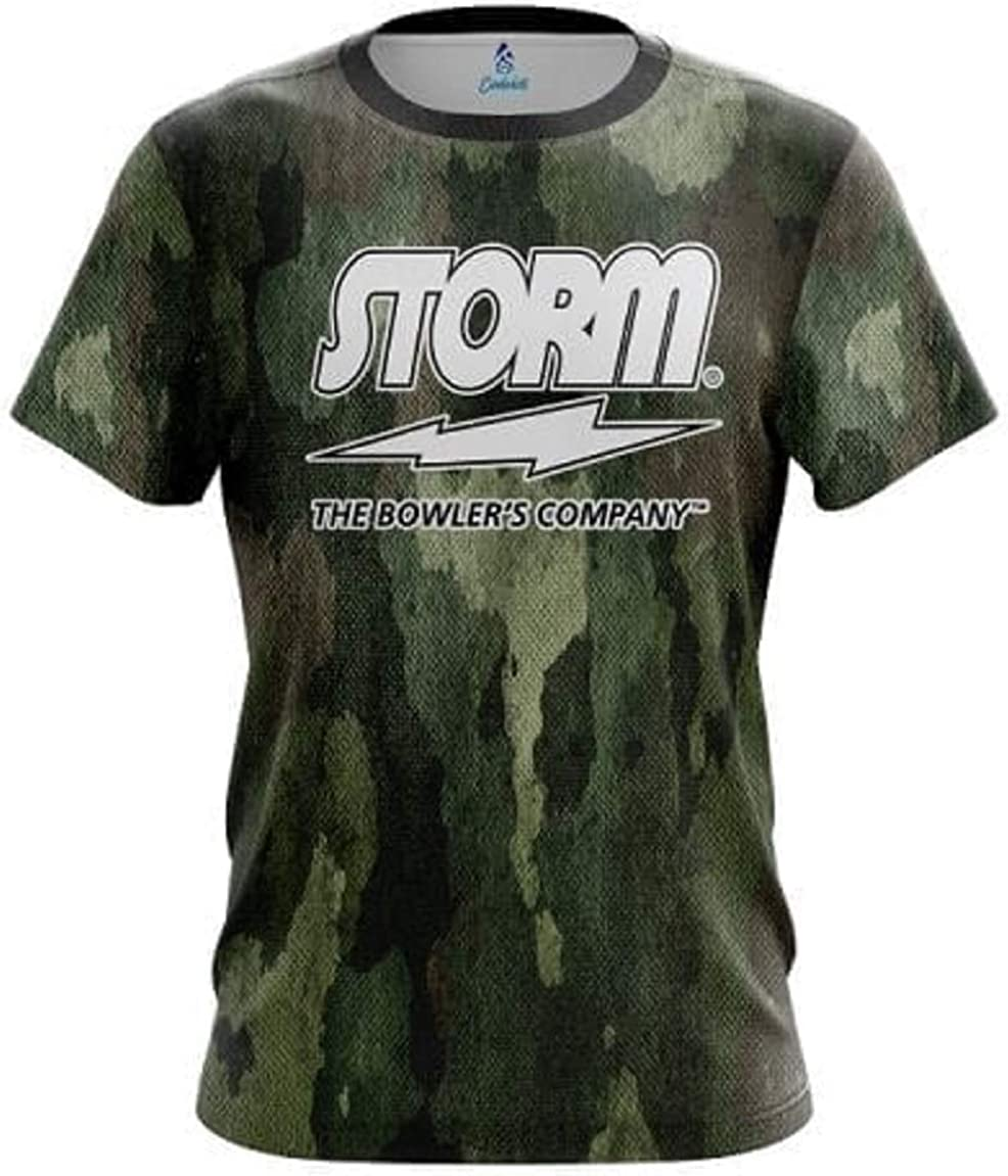 CoolWick Storm Camouflage Bowling Jersey