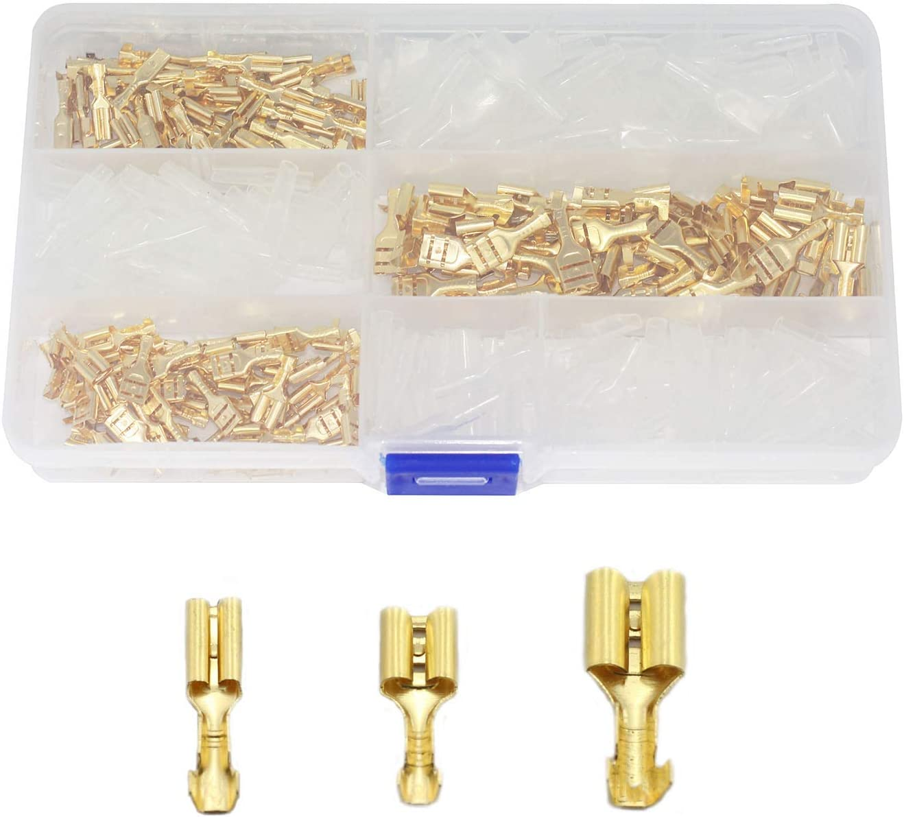 Plug and Play 50x Crimp Terminal Cable Female Spade Connector 6.3mm