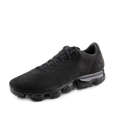 fa93a15c04b Amazon NIKE Mens Air Vapormax LTR Black Silver Leather Size 10