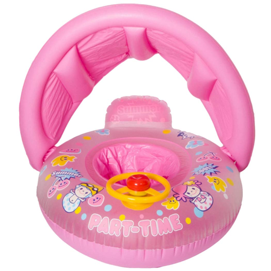 Ouyilu Baby Float Boat with Canopy ,Baby Swimming Float,Inflatable Baby Float Beach Pool Water Toys, Suit for Toddler Children