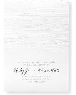 Amazon golden wedding anniversary invitations pack of 10 gartner studios woodgrain embossed invitation kit case of 50 stopboris Image collections