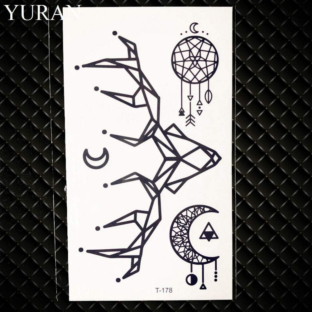 GHHCG Acuarela Universo Tatuaje Temporal Niños Luna Moose Hombres ...