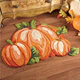 Collections Etc Fall Pumpkin Patch Accent Rug