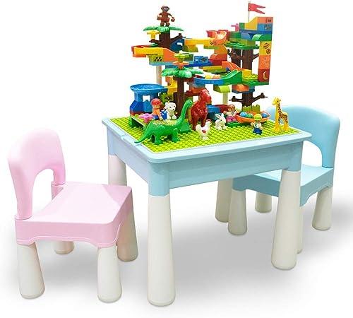 Juego de mesa de actividades para niños Juego de mesa de construcción de plástico de rompecabezas de educación temprana Mesa de juegos de juguetes for niños multifunción Mesa de estudio de ensamblaje: