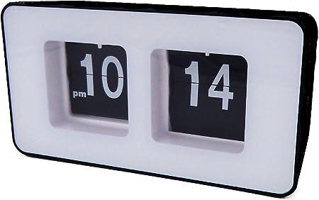 weiß schwarz Retro Flip Uhr mit Gehäuse Tischuhr