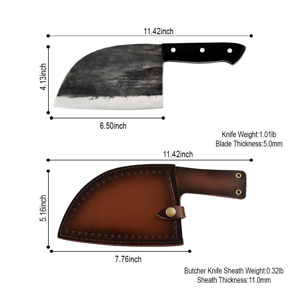 Amazon.com: Full Tang cuchillo de carnicero hecho a mano ...