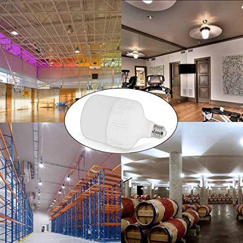 LOHAS 250W-300W Light Bulb Equivalent, 30W LED Bulb Daylight White 5000K with Free E26 to E39 Converter, 3400 Lumens, High Watt Commercial Retrofit LED Bulbs for Garage Warehouse Workshop(2 Pack) by LOHAS (Image #3)