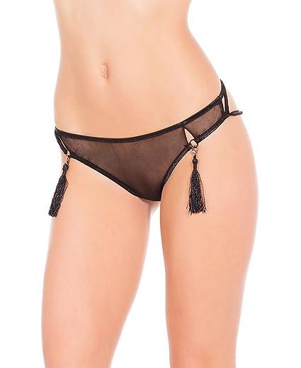 5d4e1775f0f Amazon.com  Coquette SB598X Women s Plus Size Mesh Cage Panty - X-Large -  Black  Clothing