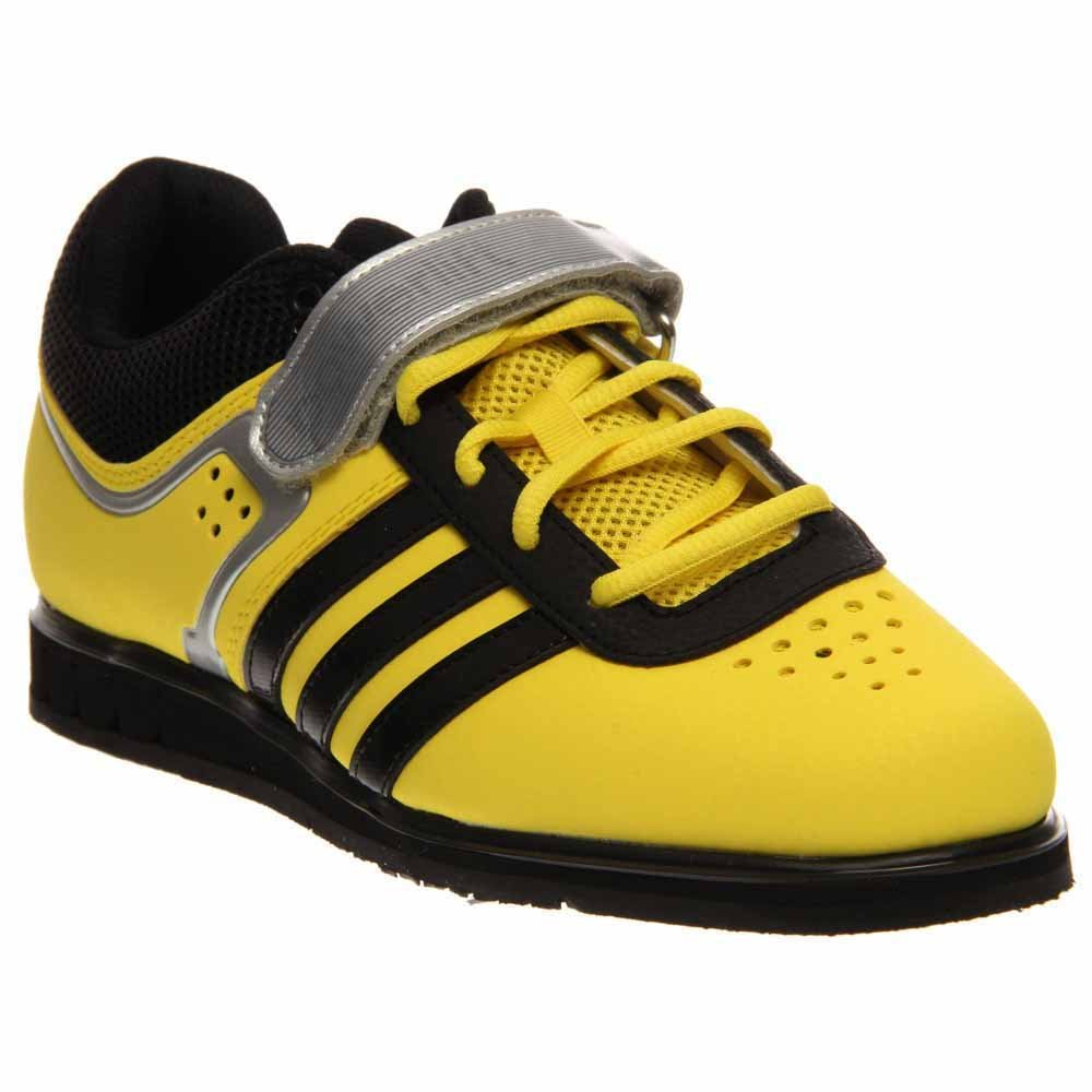 pretty nice 097e7 302de Galleon - Adidas Mens Powerlift Trainer 2 Weightlifting Shoes - YellowBlack  (6.5)