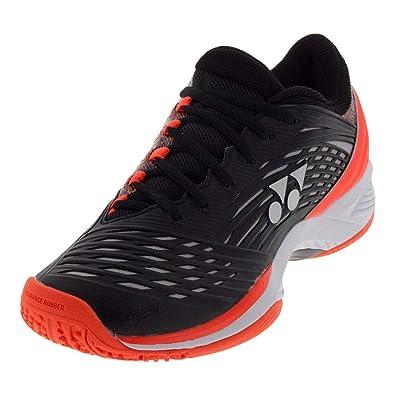 8836034e3b9 Yonex-Men`s Power Cushion Fusionrev 2 Clay Tennis Shoes Black and Orange-