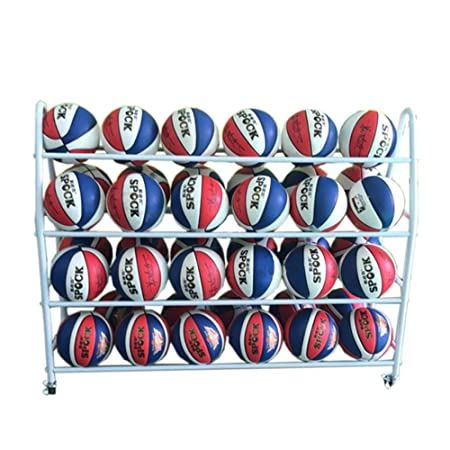 Deportes de pelota de almacenamiento en rack Baloncesto en rack de ...