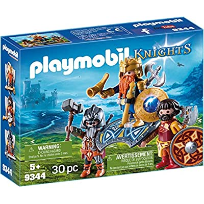 PLAYMOBIL Dwarf King with Guards: Toys & Games