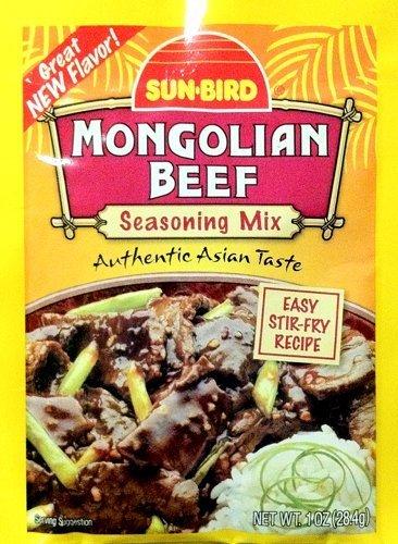 Sun-Bird MONGOLIAN BEEF Asian Seasoning Mix 1oz (10-pack) by Sun (Asian Beef)