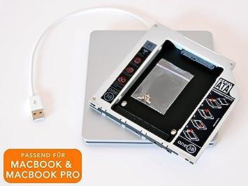 Segundo SATA HDD/SSD HDD Caddy y Externo USB recinto (Slot ...