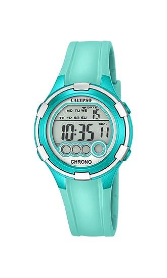 Calypso Mujer Reloj Digital con Pantalla LCD Pantalla Digital Dial y Correa de plástico Turquesa K5692/7: Amazon.es: Relojes