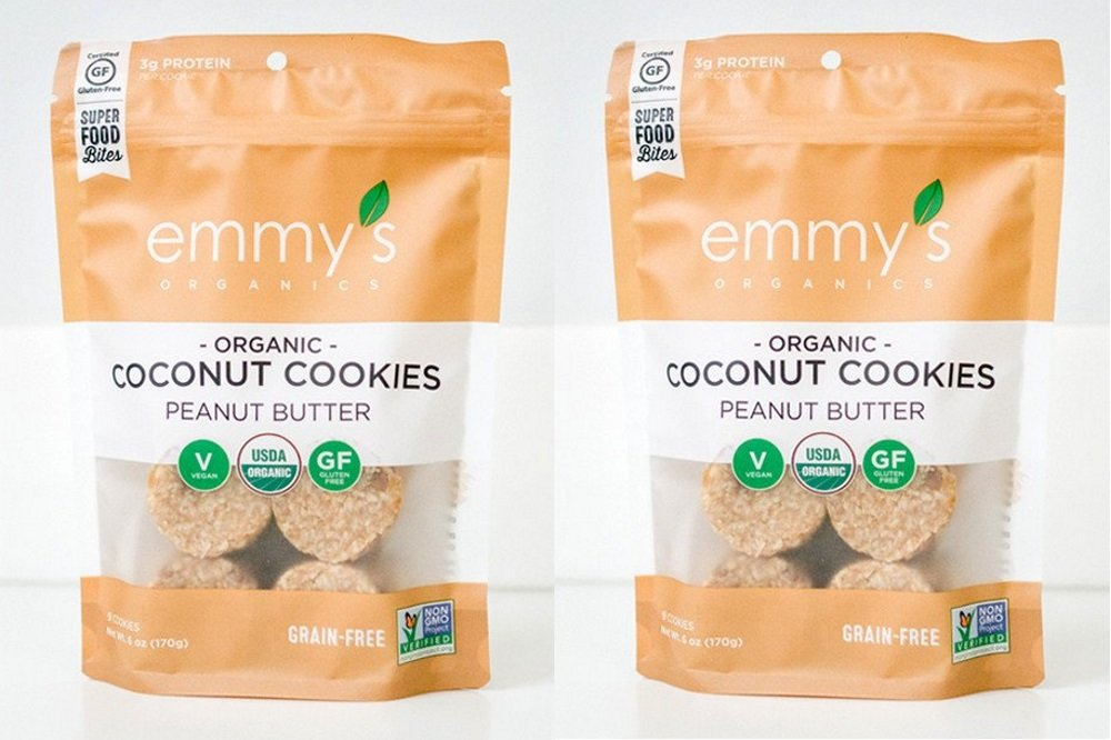 Emmy's Organics, Coconut Cookies - Peanut Butter, 6 oz (Pack of 2) by Emmy's Organics