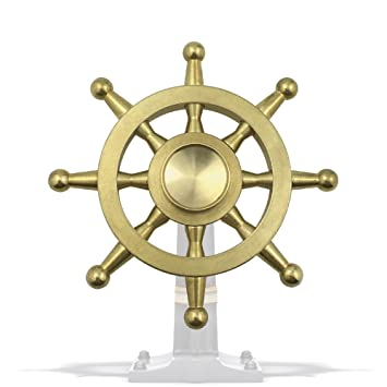Amazon Laifoo New Fidget Spinner Toy Brass Metal Rudder Ship Wheel High Speed Smooth Quiet Hand For ADHD Relieve Anxiety Stress Toys Games